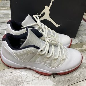 Air Jordan 11 retro low white varsity red black